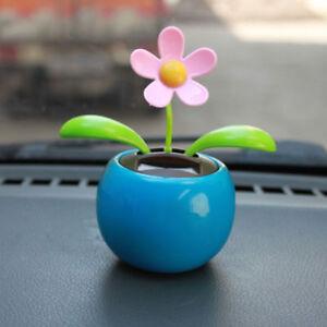 solar flower dancing flip flap car motion ornament window moving leaf pot AC18