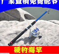 Telescoping Spinning Rod Portable Travel Carbon Fiber Sea Fishing Rod Pole Hg01