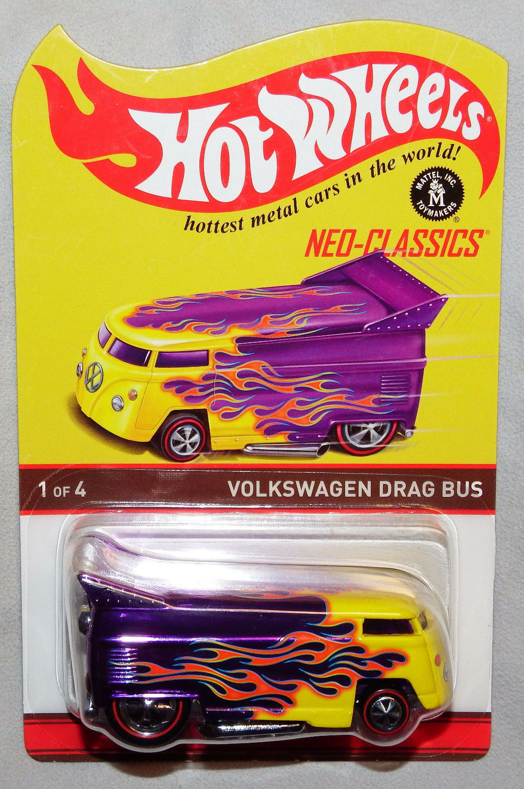 2016 Hot Wheels RLC VW DRAG BUS Neo-Classics Series 14 UNSPUN RIVET ERROR