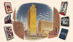 Postcard-New-York-City-9-Rockefeller-Plaza-Time-Life-Fortune-Info-Center-1950s