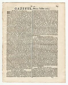 1702-july-22-Rare-French-Gazette-At-the-beginning-of-the-Queen-Anne-039-s-War