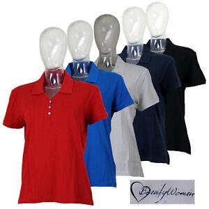 ufficiale bellezza vari colori Dettagli su Polo Donna Cotone Piquet Maglietta T-Shirt Taglie Comode XL XXL  3XL da GELSTORE