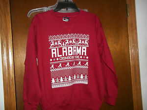 Alabama Crimson Tide Sweatshirt Ugly Christmas Sweater Nwt L 14 16