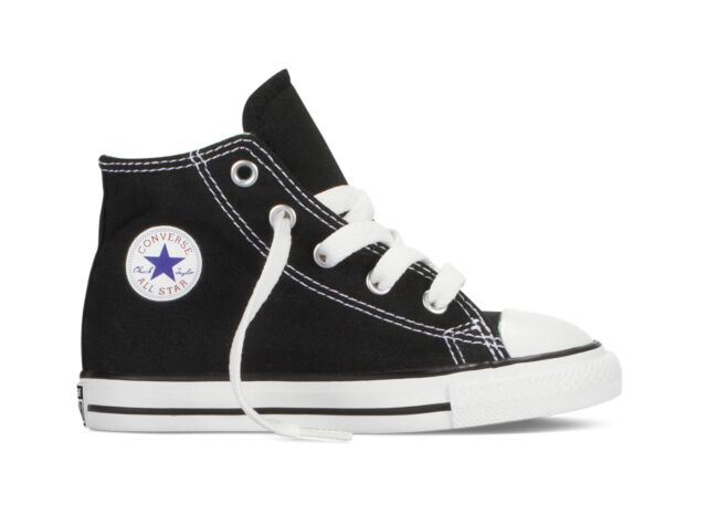 f6533b5e4a33 Converse Chuck Taylor All Star Infant Black Textile Trainers 10 UK ...
