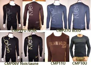 T Shirt Homme Calvin Klein Manche Longue Taille S M L Xl Ebay
