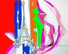 Tableau, peinture, Tour Eiffel, monument, capitale, Paris, decoration