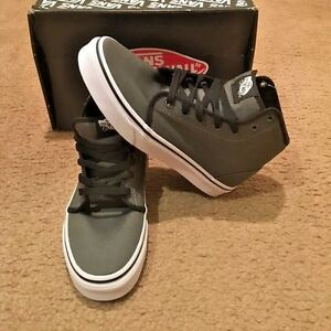 3d9ebe409c7e Image is loading NEW-Vans-106-Hi-Gunmetal-True-White-Sneakers-