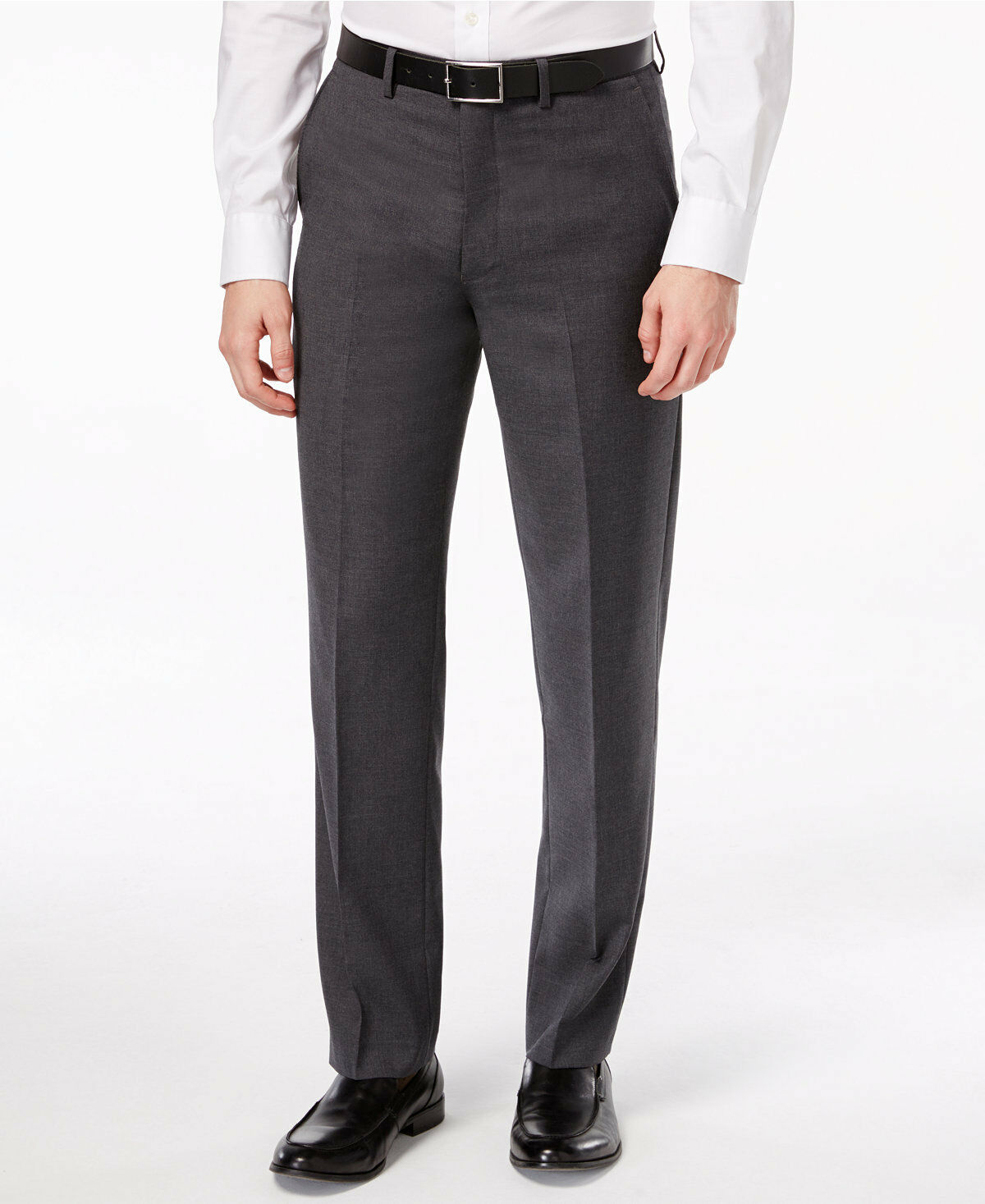Ryan Seacrest 7621 Distinction Solid Grey Modern Fit Pants Size 33-32
