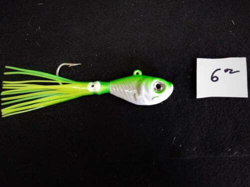 """2-5oz,2-6oz Man Cave 3x Glow Belly Bucktail Jigs 4 Pack /"""" all Species"""
