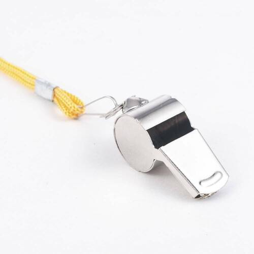 Metal Stainless Steel Referee Whistle Sports Soccer Football Loud Sound Whistle
