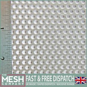 3mm Hole x 5mm Pitch x 1mm Thick Perforated Mesh Sheet Plate Aluminium