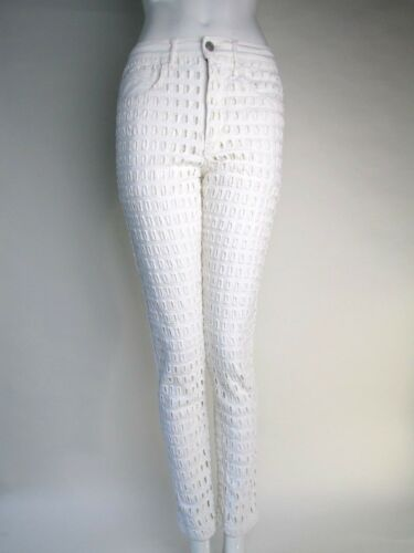 Skinny Size Uk 6 Marant Isabel Textured White 34 Mainline Trousers qTSPpIgw