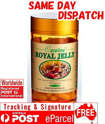 Careline ROYAL JELLY 1000 mg 100 180 365 Capsules HIGH IN 10HDA AUSTRALIA