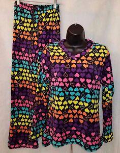 Pj Pant Nwt pile S Set Design Multi Womens Bonjour Hearts Color in taglia 8qzCC