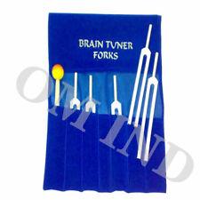 Brain Tuning Forks 5pc Set For Healing Mallet Velvet Pouch