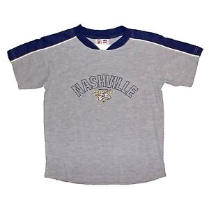 84bdbdf7 Details about NHL Nashville Predators Youth T-Shirt Embroidered Logo Hockey  Shirt Kids Tee