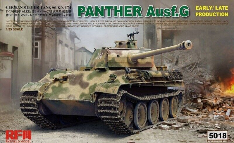 RYE FIELD MODEL GERMAN PANTHER AUSF.G EARLY LATE PRODUCTION 1 35 RM5018