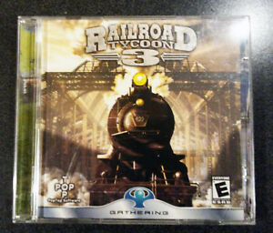 PC-GAME-Railroad-Tycoon-3-2003-rare-complete-2-CD-in-double-jewel-case
