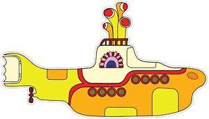 The-Beatles-Yellow-Submarine-vinyl-Sticker-Decal-Choose-Size-car-laptop-wall