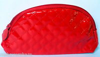 Ipsy December 2015 Red Vinyl Makeup Glam Bag Cosmetic Case Lips Zipper Pull