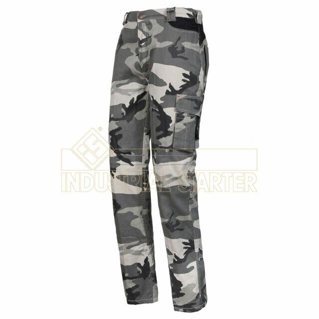 URBAN WORK new zip in box Pantalone multitasca in cotone tessuto mimetico TAGLIA L