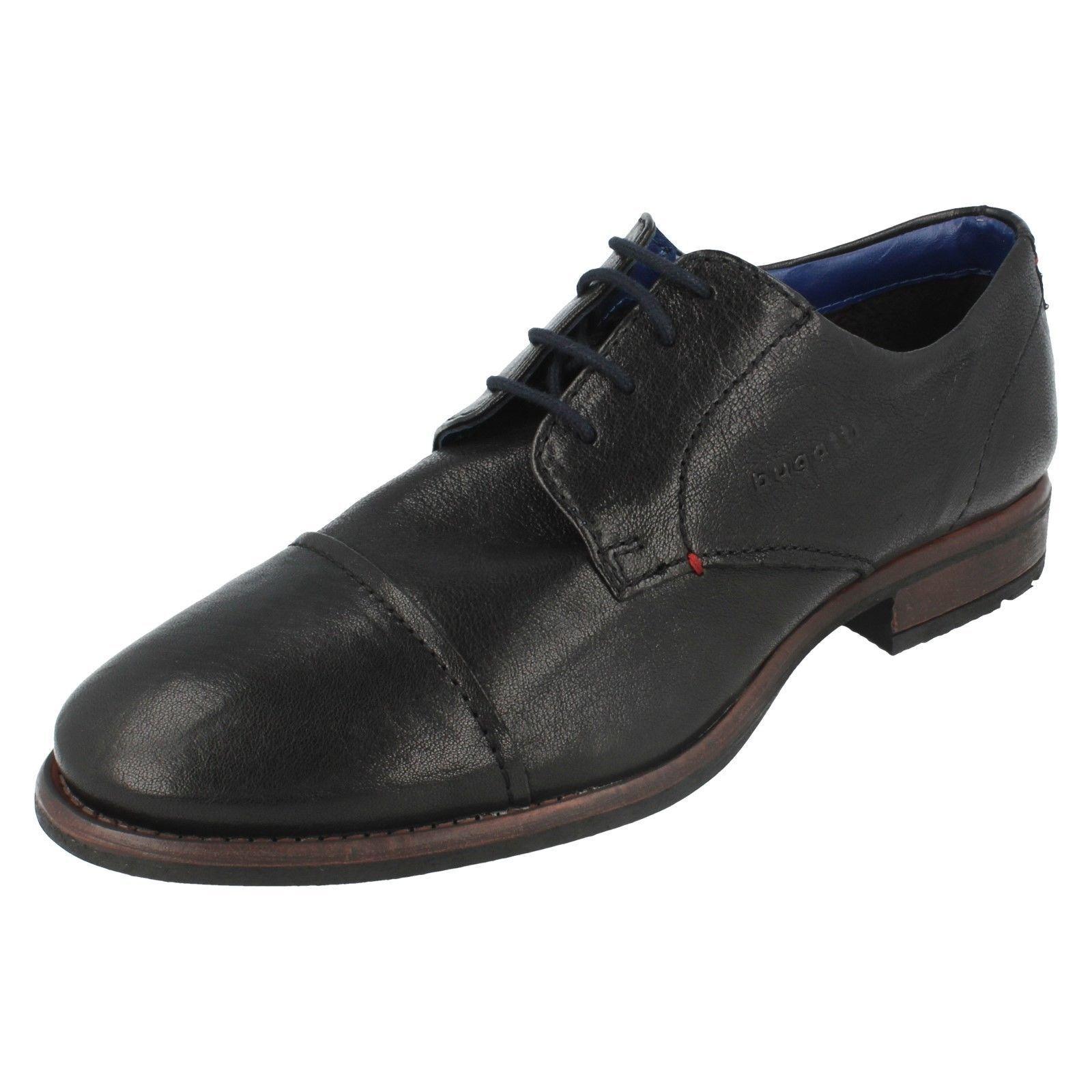 Herren 313-22302-4000 Schwarze Geschnürte Leder Schuhe von Bugatti
