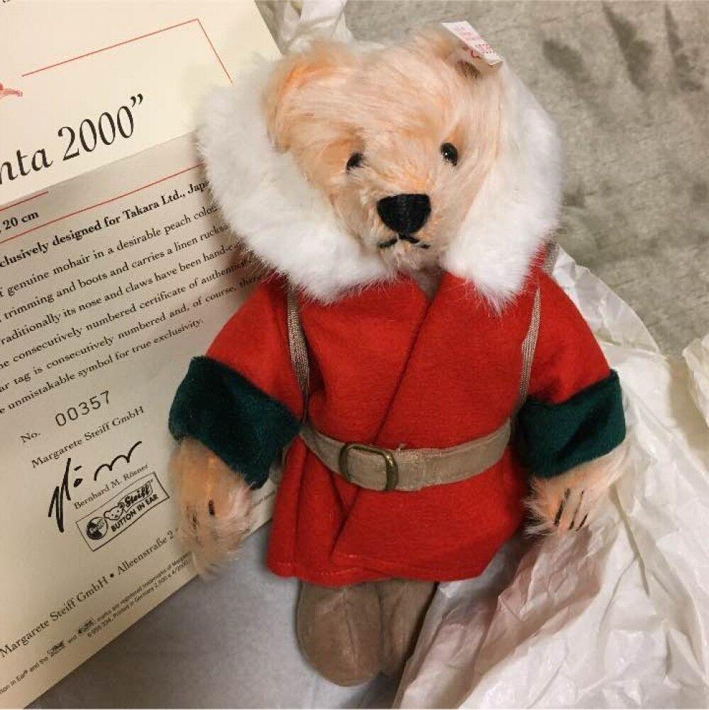 Used  Excellent   Steiff Teddy Bear 2000 Little Santa Japan limited Boxed