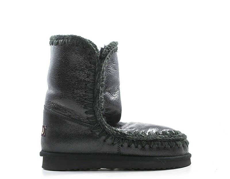 Schuhe ESKIMO24LIM CSGBK Naturleder schwarz Frau MOU