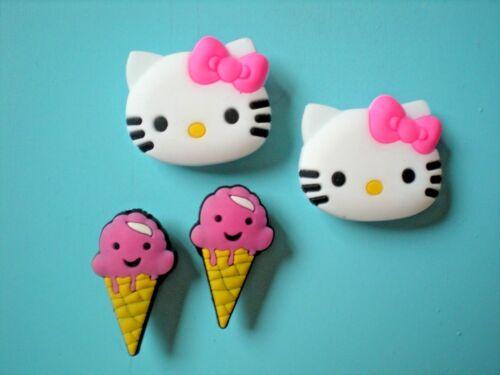 Happy Clog Sandal Shoe Charm Button Plug Accessories WristBand Pink Hello Kitty