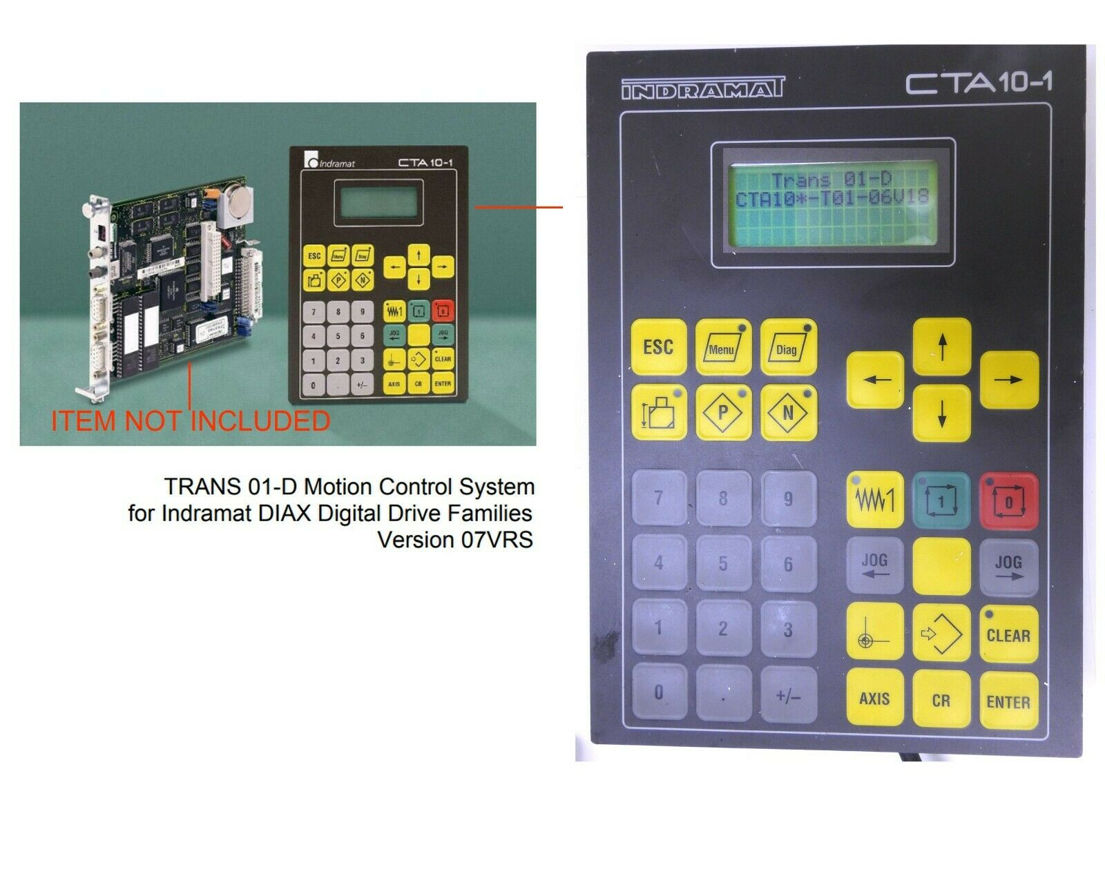 Indramat CTA10-1 User Interface