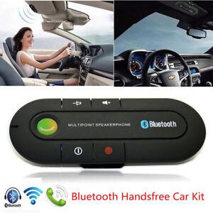 Wireless-Bluetooth-Hands-Free-Speaker-Car-Kit-Visor-Clip-Smart-Phone-Mobile