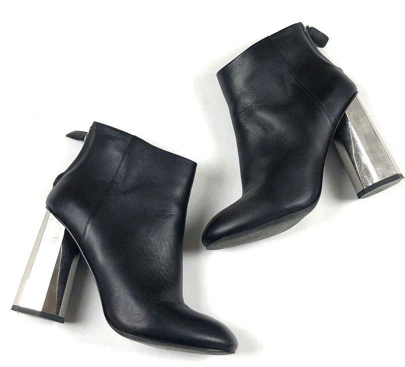 Senso para mujer 37 7 Cuero Negro Plata Espejo Espejo Espejo Botines Tobillo botas Tacones g7p  gran descuento