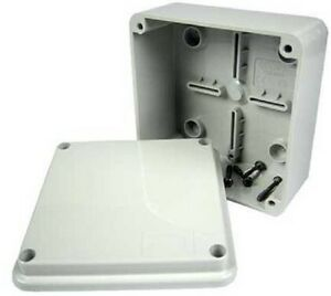 GEWISS GW44205 120x80x50mm ENCLOSURE JUNCTION BOX PLASTIC WATERPROOF IP56 GREY