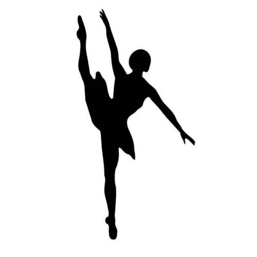 Ballet Dancer Girl Silhouette Car Decal Sticker EBay - Modern car decal sticker girl