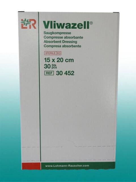 Vliwazell Saugkompressen 15x20 cm I steril I 30 Stück I  PZN 05855611