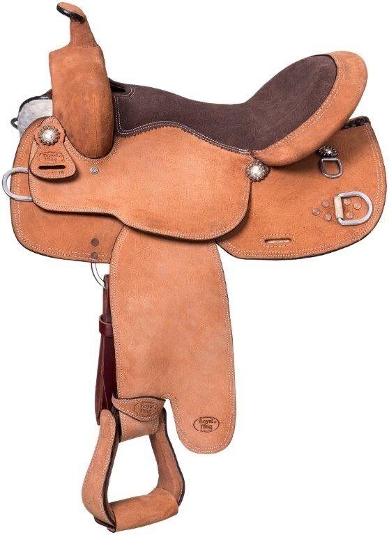 Mule Western 16 Inch Roughout Training Saddle