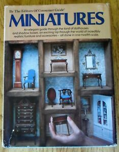 Miniatures-HC-DJ-1979-Dollhouses-Shadow-Boxes-1-12-Scale-by-Guidebook-How-To
