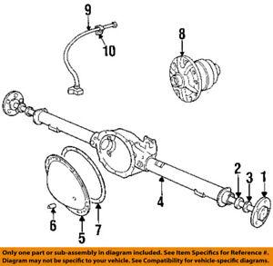 Details about Dodge CHRYSLER OEM 94-99 Ram 1500 Axle Housing-Rear-Vent Hose  Clip 34175327