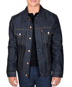 Levi-039-s-Men-039-s-Trucker-Jacket-Selvage-Denim-Rigid-Large-USA-Made-70589-0040