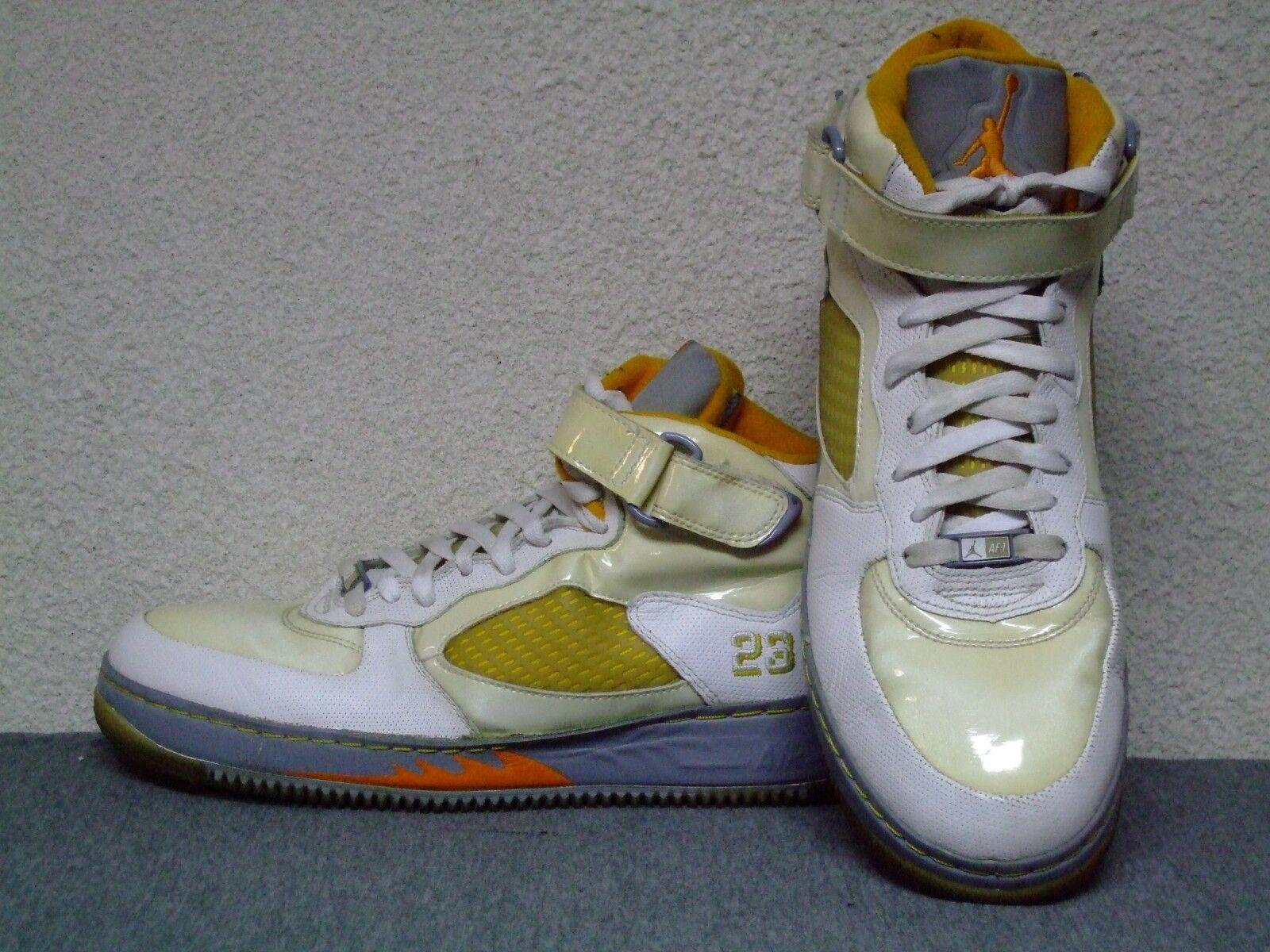 Nike Air Jordan Fusion AJF 5 white orange basketball shoes 318608-181 size 11