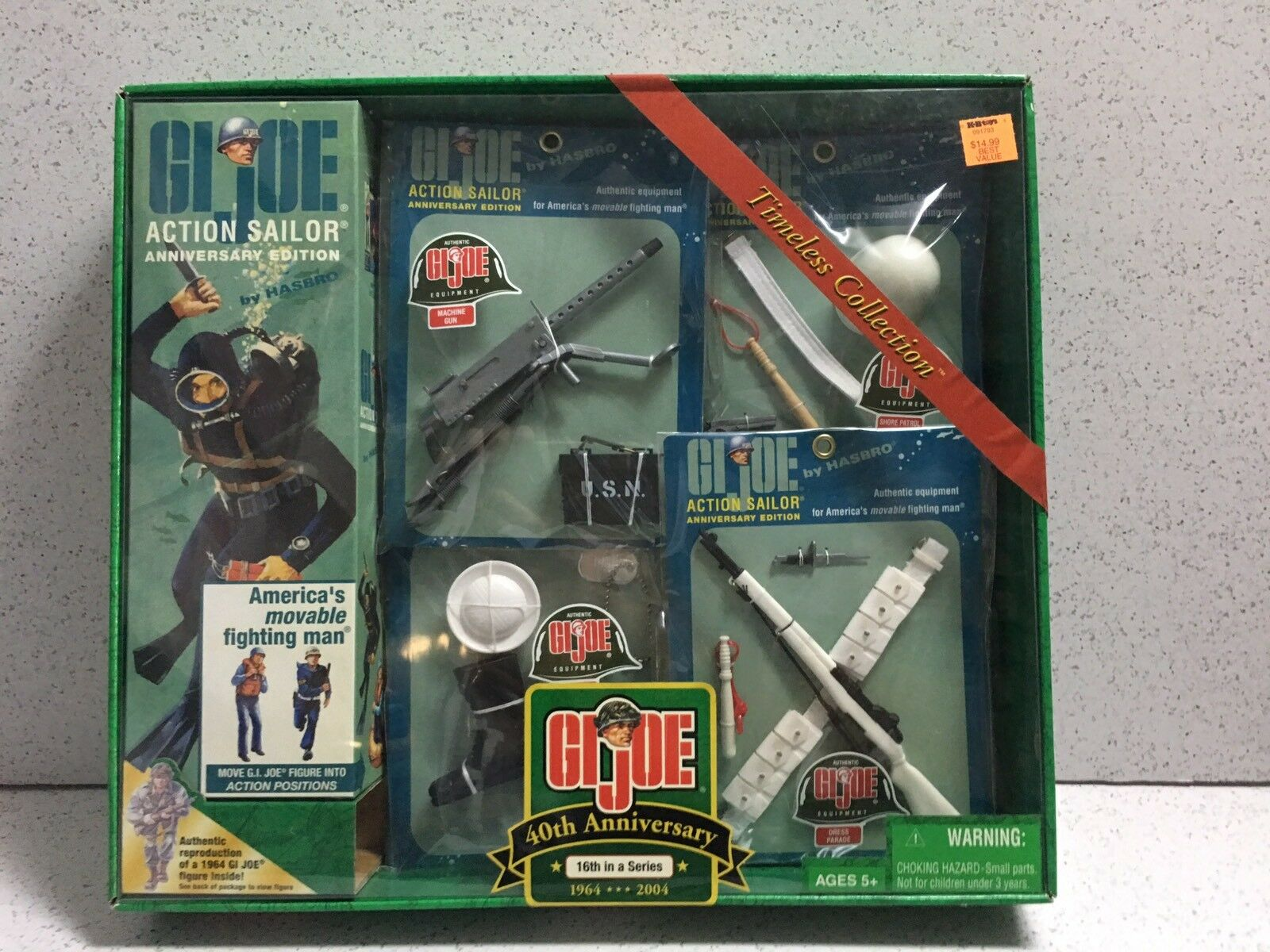 GIJOE ACTION SAILOR Vintage 40th ANNIVERSARY SET 1964-2004 NRFB MIB MIP MOC