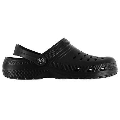 Zueco HT Talla 7 8 9 10 11 12 13 Nuevo Zapatos Sandalias de hombre negro Ojotas de ducha