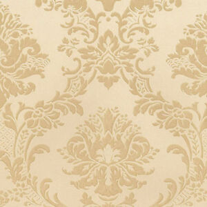 Image Is Loading Victorian Damask Wallpaper MD29435 Tone On Gold