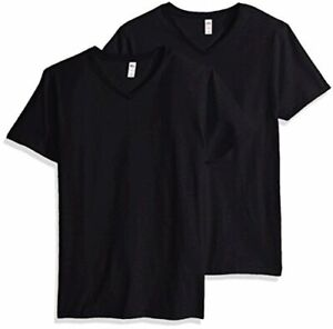 Fruit of the Loom Men's V-Neck T-Shirt (4 Pack), Charcoal,, Black, Size Small 59