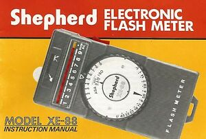 Shepherd-XE-88-Flashmeter-Original-Instruction-Book-User-Manual-Guide