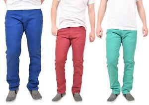 Para-Hombres-Kushiro-City-Jeans-Stretch-Slim-Fit-Pierna-Recta-De-Sarga-Pantalon-Chinos-Pantalones