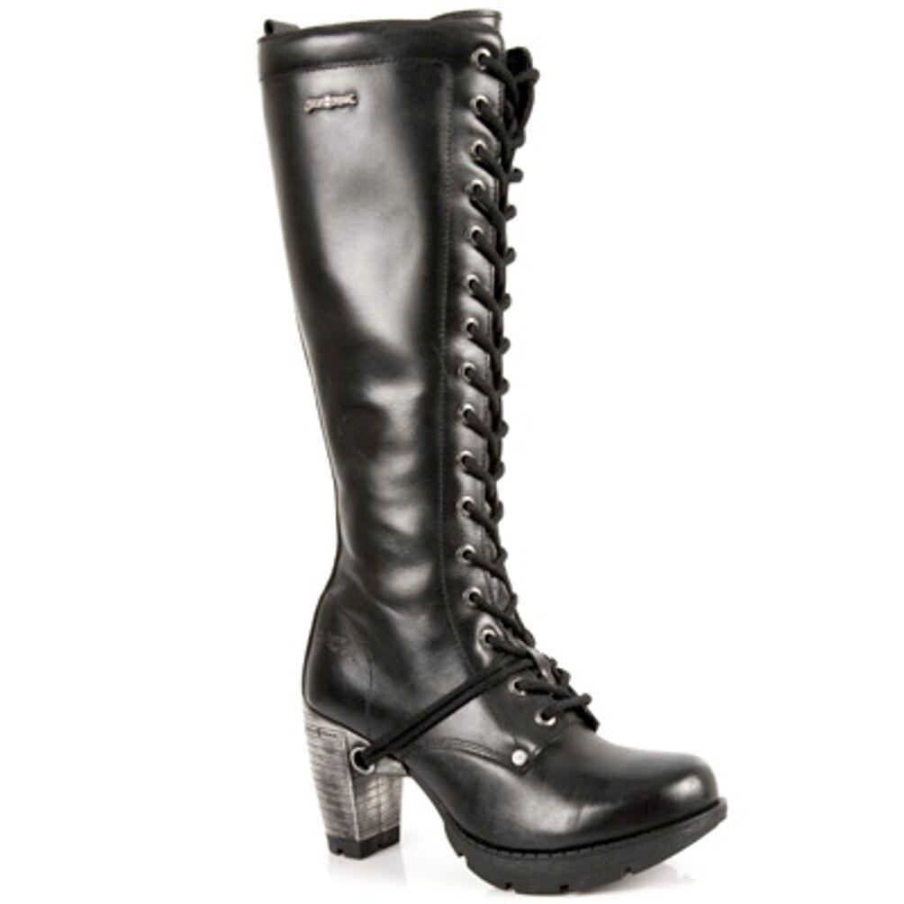 New Rock botas mujer punk Gothic botas-style tr005 s1 s1 s1 negro-señora  a la venta