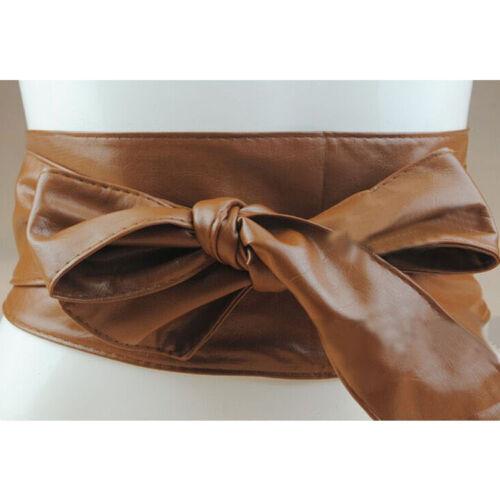 Elegante Damen Gürtel Bund Doppel Waistband breiten Taillengürtel Stretch