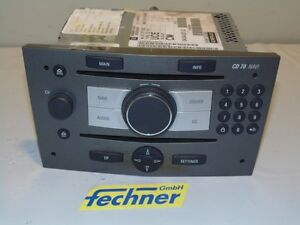 radio opel zafira b cd 70 13271252 cd player navi ebay. Black Bedroom Furniture Sets. Home Design Ideas