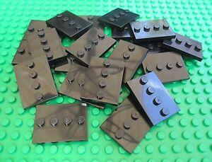 Lego-City-Town-QTY-x-20-BLACK-MINIFIGURE-BASEPLATES-4-x-3-Plates